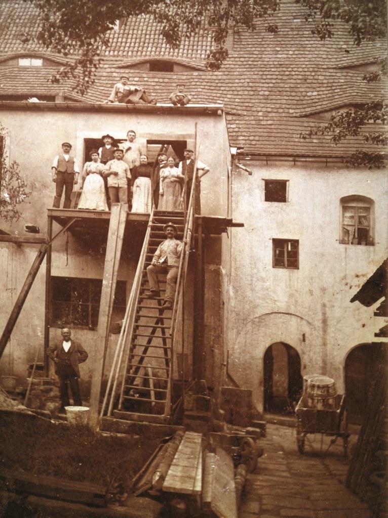 Innenhof - Südansicht Tetzelhaus 1909