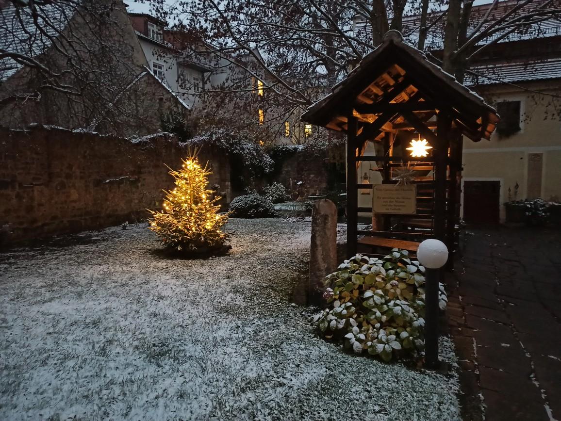 Innenhof im Dezember 2020